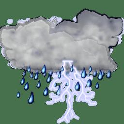 Status weather storm icon