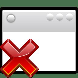 Status window suppressed icon