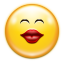 Emotes face kiss icon