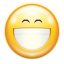 Emotes face smile big icon