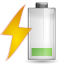 Status-battery-charging-caution icon