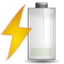 Status battery charging low icon