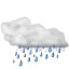 Status weather showers icon