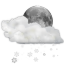 Status-weather-snow-scattered-night icon