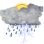 Status-weather-storm-day icon
