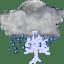 Status weather storm night icon