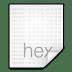 Mimetypes-text-x-hex icon