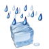 Status-weather-freezing-rain icon