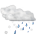 Status-weather-snow-rain icon