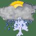 Status-weather-storm-day icon