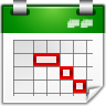 Actions-view-calendar-timeline icon