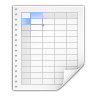 Mimetypes-application-x-applix-spreadsheet icon