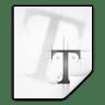 Mimetypes-application-x-font-ttf icon