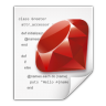 Mimetypes-application-x-ruby icon
