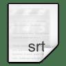 Mimetypes-application-x-srtrip icon