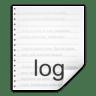 Mimetypes-text-x-log icon