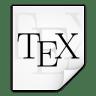 Mimetypes-text-x-tex icon