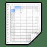 Mimetypes-x-office-spreadsheet icon