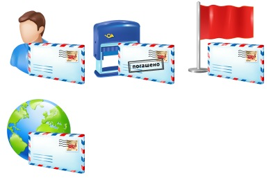 Plastic Mail Icons