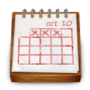 wood calendar icon