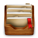 wood folder icon