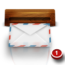 Wood mail icon