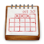Wood calendar icon