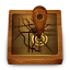 Wood-map icon