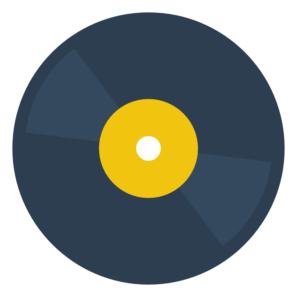 Disc vinyl Icon | Small & Flat Iconset | paomedia