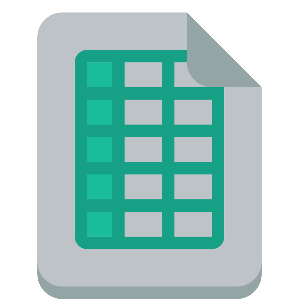 File excel Icon | Small & Flat Iconset | paomedia