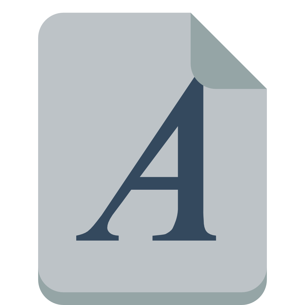 file font icon small flat iconset paomedia