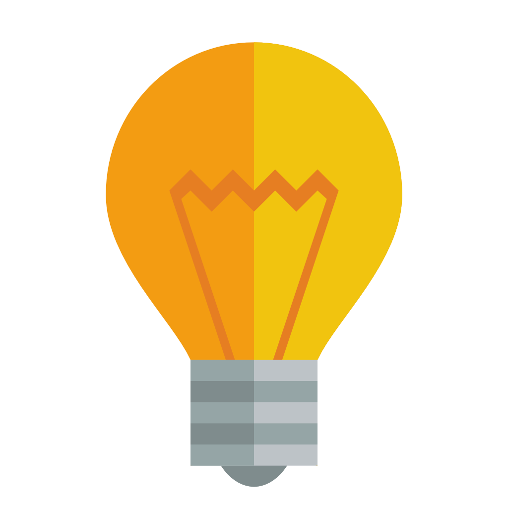Light Bulb Icon Small Flat Iconset Paomedia