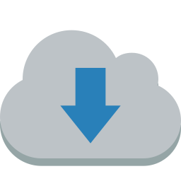 cloud down icon