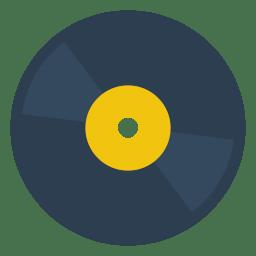 Disc Vinyl Icon Small Amp Flat Iconset Paomedia