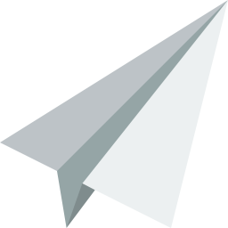 Flat paper airplane icon