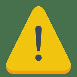 Sign warning icon