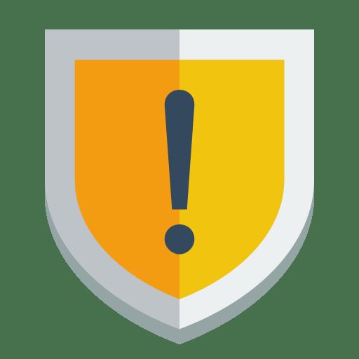 Shield-warning icon
