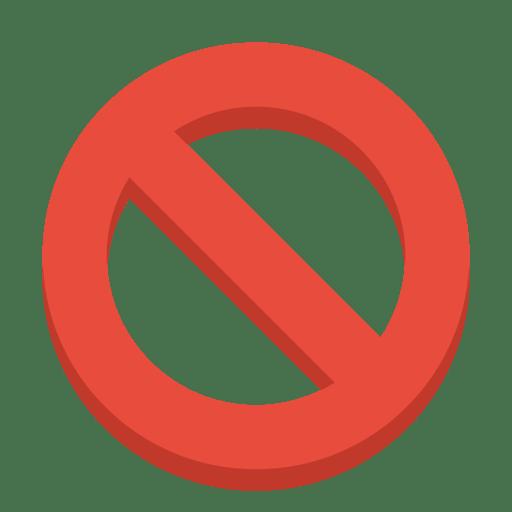 Sign-ban icon