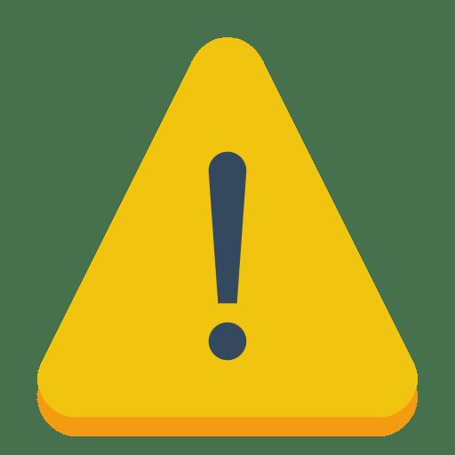 Sign-warning icon