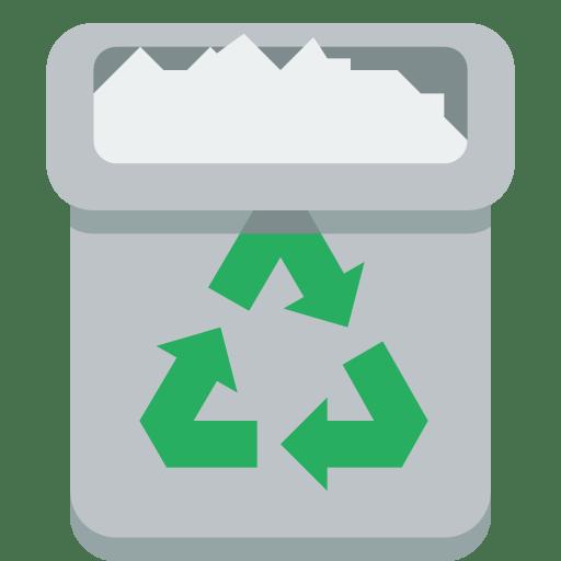Trashcan-full icon