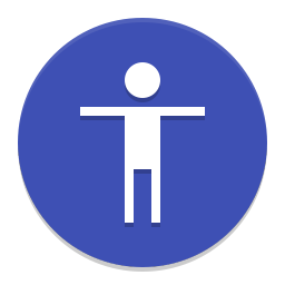 Preferences desktop accessibility icon