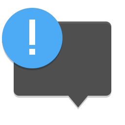 Preferences system notifications icon