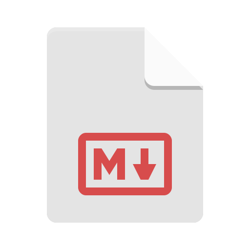 Text-x-markdown icon