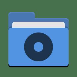 Folder blue cd icon