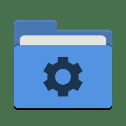 Folder blue development icon