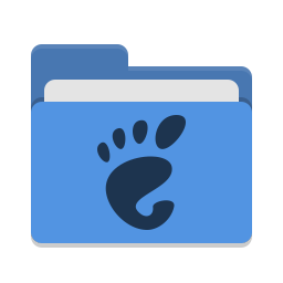 Folder blue gnome icon