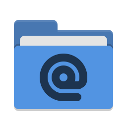 Folder blue mail icon