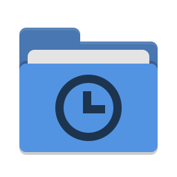 Folder blue recent icon