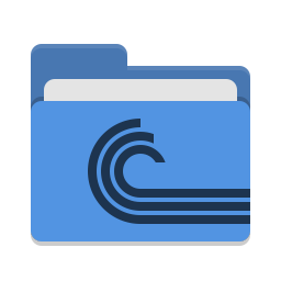 Folder blue torrent icon