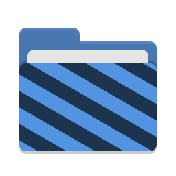 Folder blue visiting icon